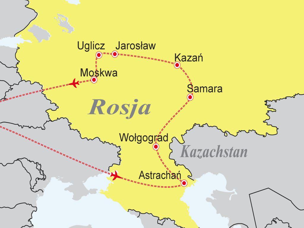 Rosja Rejs Rzeka Wolga Almatur 2020